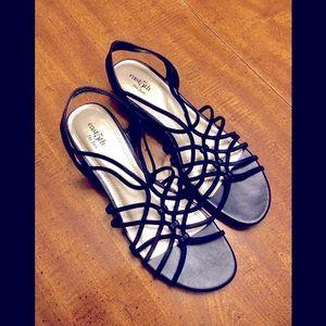 Size 10 Women's Low Wedge Sandals Blue
